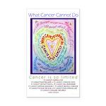Rainbow Heart Cancer Rectangle Car Magnet