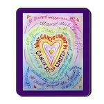Rainbow Heart Cancer Mousepad