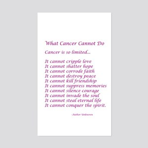 What Cancer Cannot Do Poem Sticker