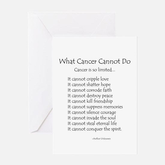 What Cancer Cannot Do Poem Greeting Card
