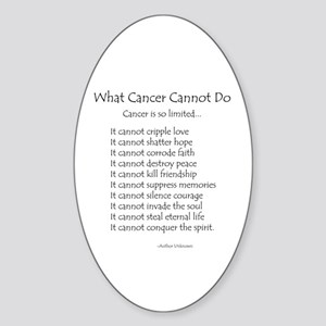 Cancer Quotes Oval Stickers Cafepress