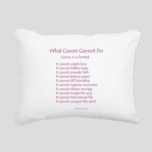 What Cancer Cannot Do Poem Rectangular Canvas Pill