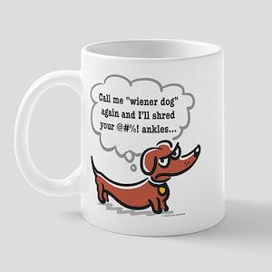 Wiener dog (ankles) Mug