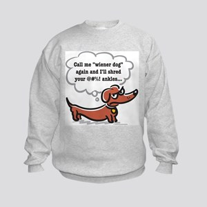 Wiener dog (ankles) Kids Sweatshirt