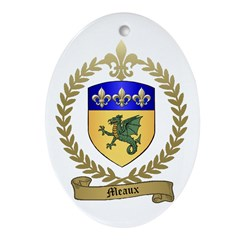 MEAUX Family Crest Oval Ornament