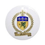 MEAUX Family Crest Ornament (Round)