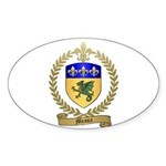 MEAUX Family Crest Oval Sticker
