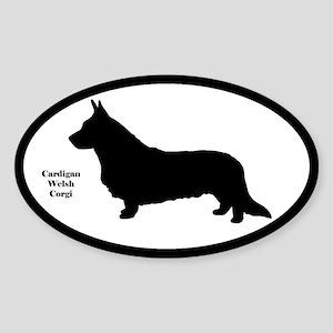Cardigan Welsh Corgi Oval Sticker