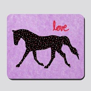 Horse Love and Hearts Mousepad