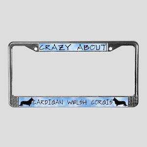 Crazy About Cardigan Corgis License Plate Frame