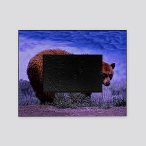 Brown Grizzly Bear Picture Frame