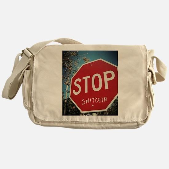 Stop Snitchin Messenger Bag