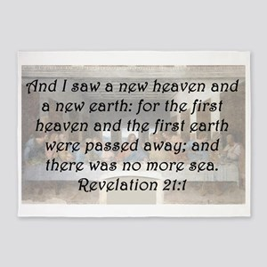 Revelation 21:1 5'x7'Area Rug