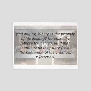 2 Peter 3:4 5'x7'Area Rug