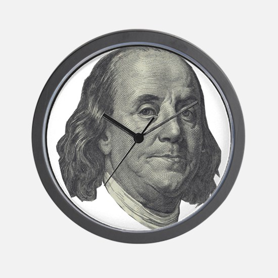 Franklin $100 Design Wall Clock