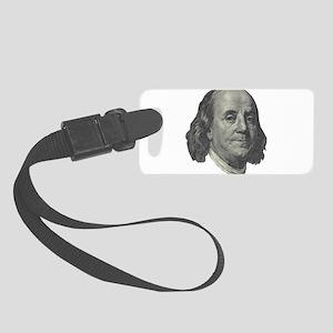Franklin $100 Design Luggage Tag