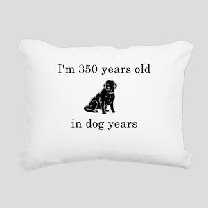 50 birthday dog years lab Rectangular Canvas Pillo