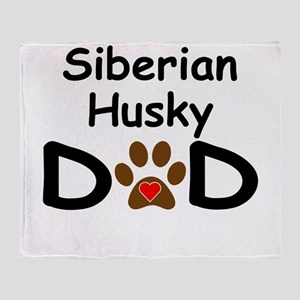 Siberian Husky Dad Throw Blanket