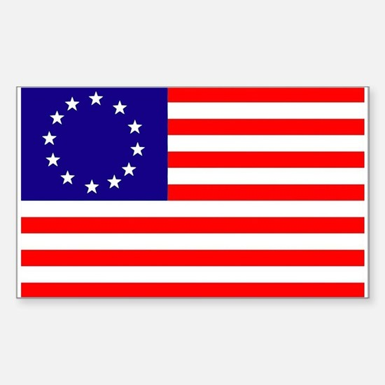 Betsy Ross Flag Rectangle Decal