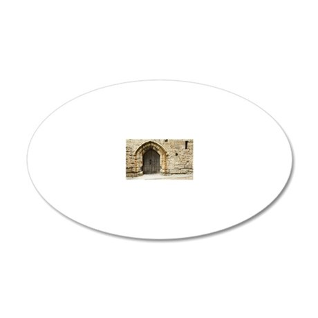 Old Castle Gate 20x12 Oval Wall Decal