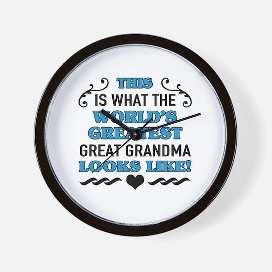Cute Great grandma Wall Clock