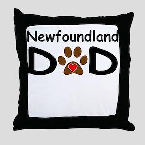 Newfoundland Dad Throw Pillow
