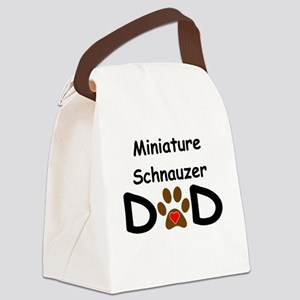 Miniature Schnauzer Dad Canvas Lunch Bag