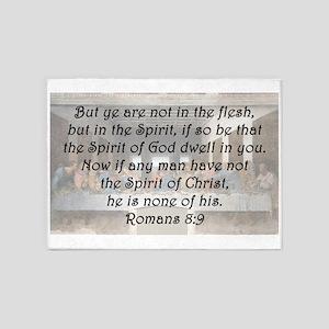Romans 8:9 5'x7'Area Rug