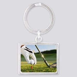 Placing the ball. Landscape Keychain