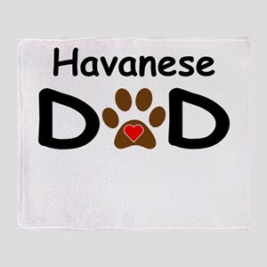 Havanese Dad Throw Blanket