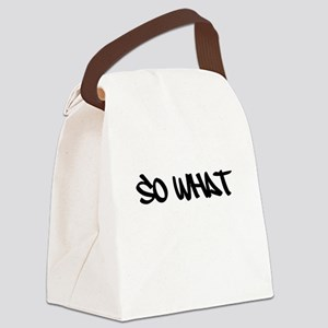 So What Canvas Lunch Bag