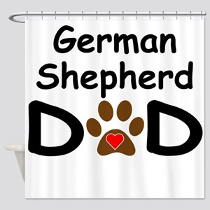 German Shepherd Dad Shower Curtain