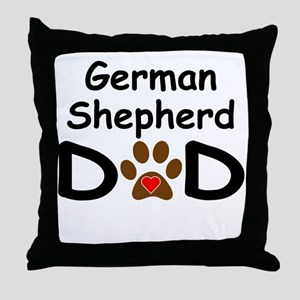 German Shepherd Dad Throw Pillow