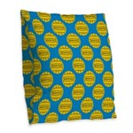 Water Polo Balls Burlap Throw Pillow