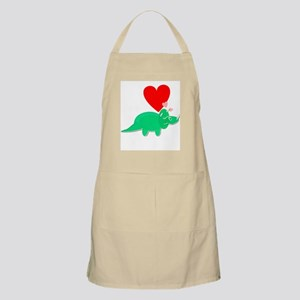 Green Triceratops Cute Cartoon Dinosaur Love Heart