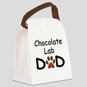 Chocolate Lab Dad Canvas Lunch Bag