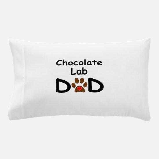 Chocolate Lab Dad Pillow Case