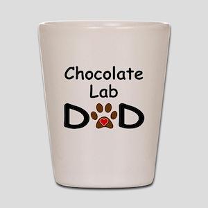 Chocolate Lab Dad Shot Glass