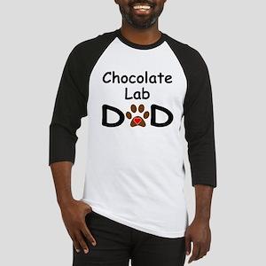 Chocolate Lab Dad Baseball Jersey