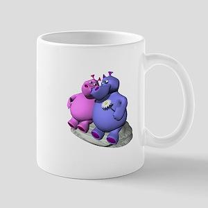 Hippos in Love Mug