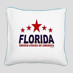 Florida U.S.A. Square Canvas Pillow
