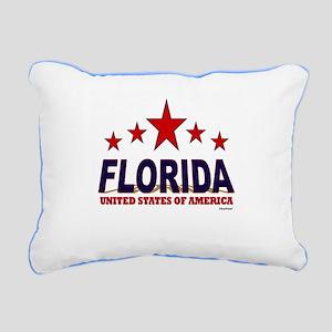 Florida U.S.A. Rectangular Canvas Pillow
