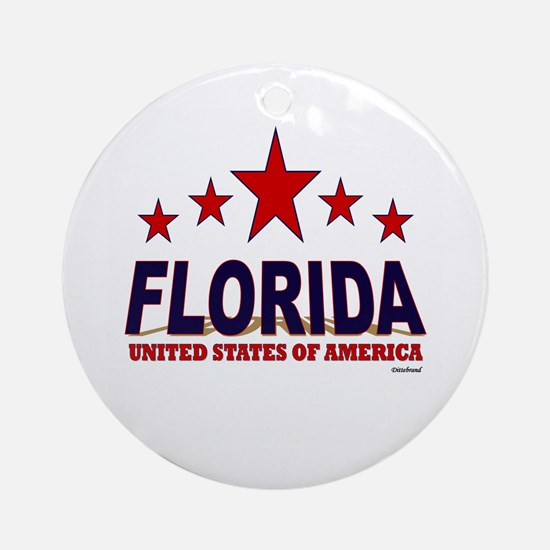 Florida U.S.A. Ornament (Round)