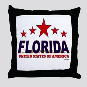 Florida U.S.A. Throw Pillow
