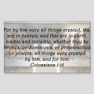 Colossians 1:16 Sticker