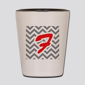 Chevron Red F Shot Glass