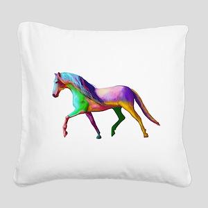 A horse of a Different Colour Square Canvas Pillow