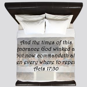Acts 17:30 King Duvet