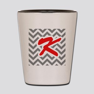 Chevron Red K Shot Glass