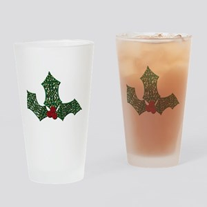 Holly Drinking Glass